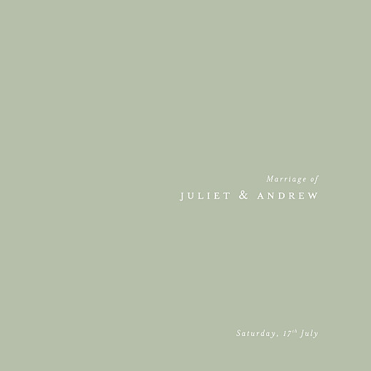 Wedding Invitations Budding branch (foil) 4 pages green