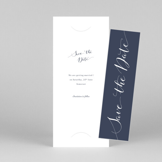Save The Date Cards Swing (bookmark) navy blue - View 1