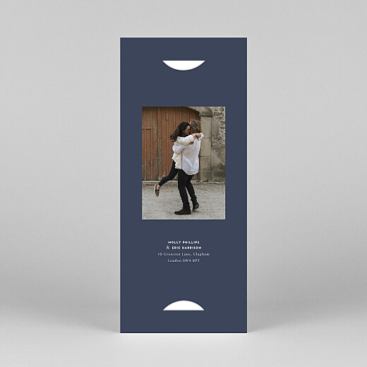 Save The Date Cards Swing (bookmark) navy blue - View 4