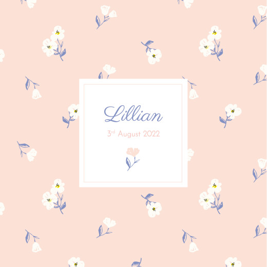 Baby Announcements Cherry blossom (4 pages) pink