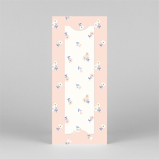 Baby Thank You Cards Cherry blossom (bookmark) pink - View 3