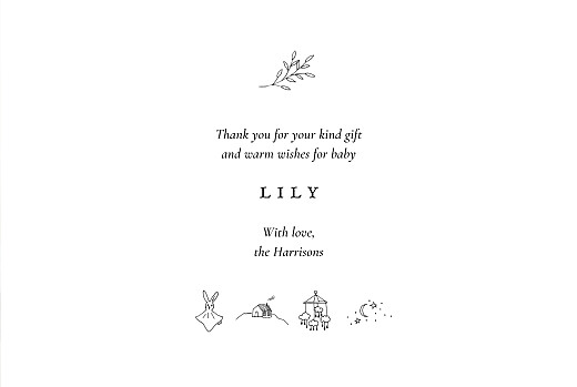 Baby Thank You Cards Favourite things (4 pages) white - Page 3