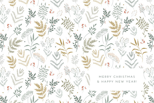 Christmas Cards Liberty leaves (4 pages) gold