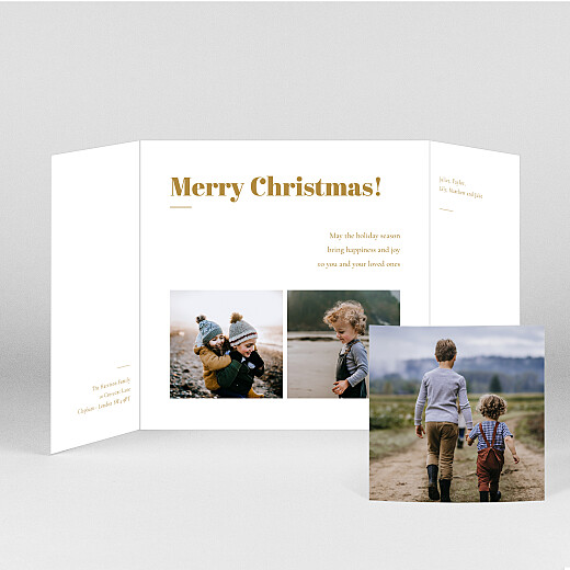 Christmas Cards Timeless (gatefold) yellow - View 2