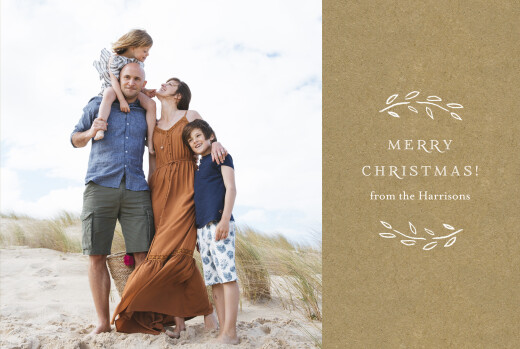 Christmas Cards Poem landscape (3 photos) kraft
