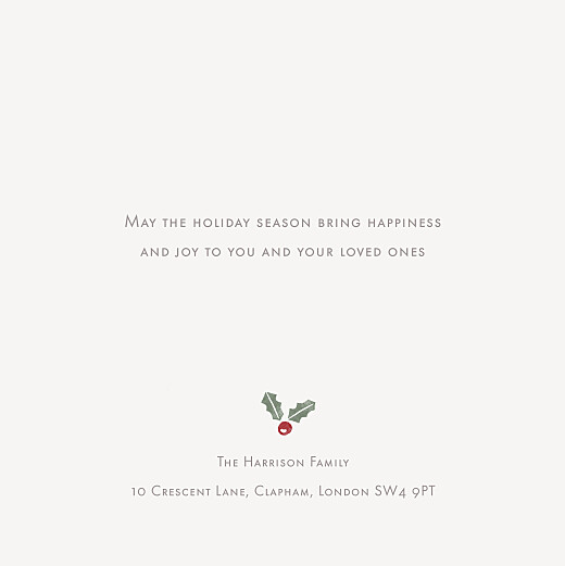 Christmas Cards Holly & pine (4 pages) cream - Page 3