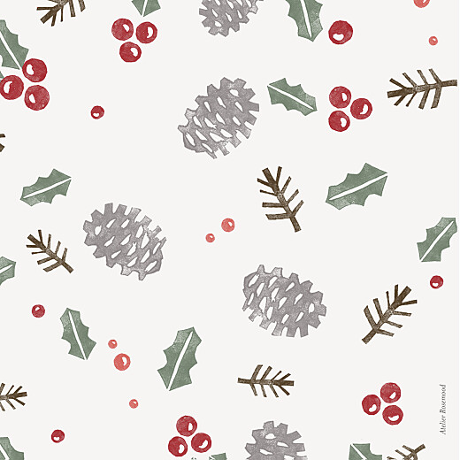 Christmas Cards Holly & pine (4 pages) cream - Page 4