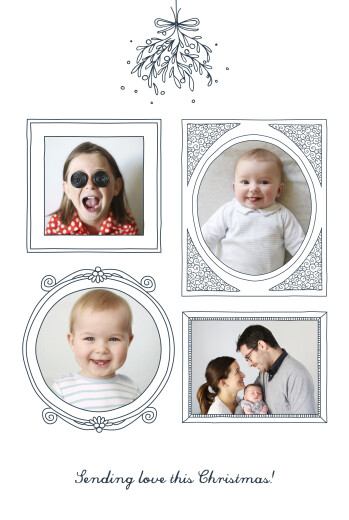 Christmas Cards Christmas kisses (4 pages) blue