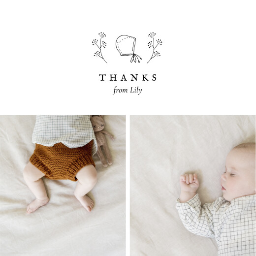 Baby Thank You Cards Favourite things (4 pages) white