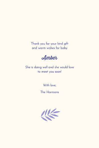 Baby Thank You Cards Palm leaves (4 pages) blue - Page 3