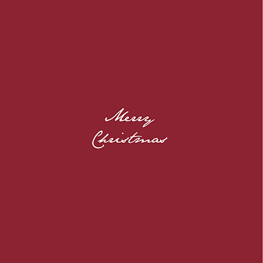 Business Christmas Cards Baby's breath chic (foil) red