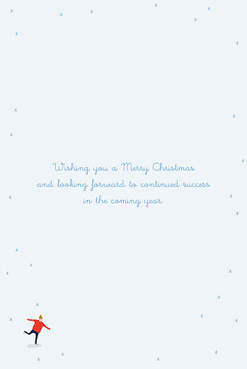 Business Christmas Cards Little ice dancers (4 pages) blue - Page 3