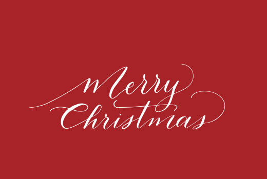 Business Christmas Cards Swing red