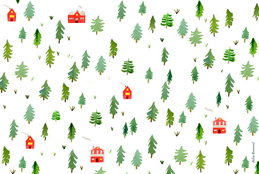 Business Christmas Cards Evergreen landscape (4 pages) white - Page 4