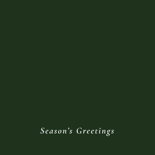 Business Christmas Cards Forever ferns (foil) green