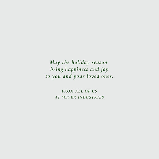 Business Christmas Cards Forever ferns (foil) green - Page 3