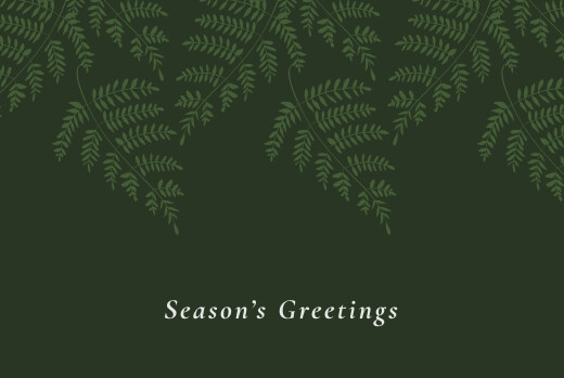 Business Christmas Cards Forever ferns green