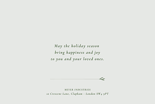 Business Christmas Cards Forever ferns green - Page 3