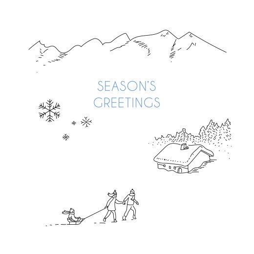 Business Christmas Cards Winter promise white