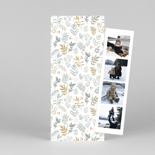 Christmas Cards Liberty leaves (bookmark) gold - View 1