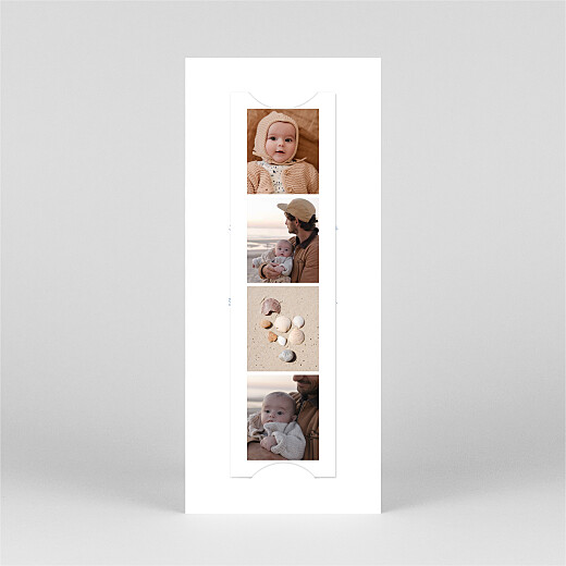 Baby Thank You Cards Surf's up (bookmark) 3 children blue - View 3