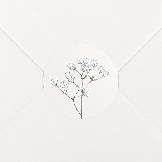 Wedding Envelope Stickers Gypsophila beige - View 2