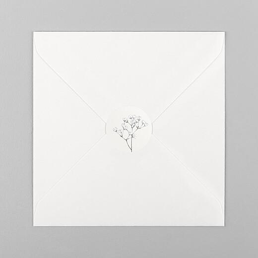 Wedding Envelope Stickers Gypsophila beige - View 1
