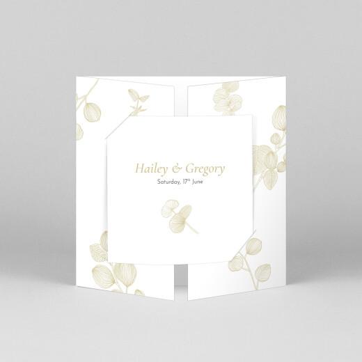 Wedding Invitations Everlasting eucalyptus (gatefold) bis beige - View 1