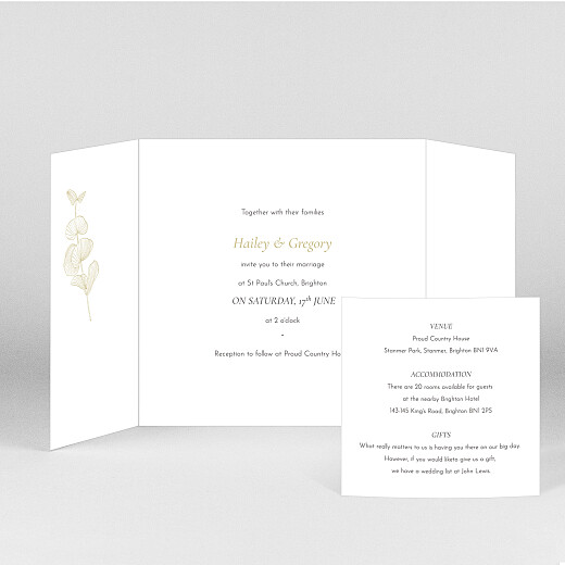 Wedding Invitations Everlasting eucalyptus (gatefold) bis beige - View 2