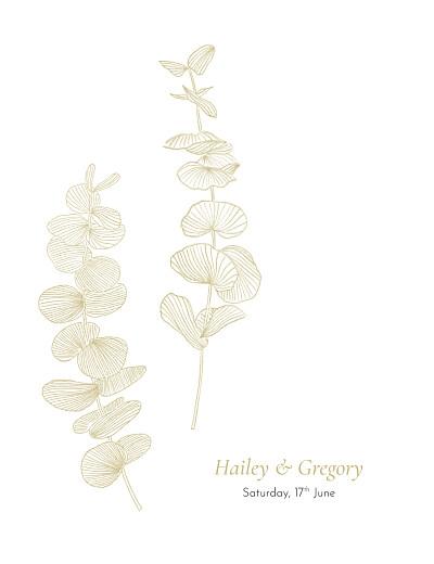 Wedding Invitations Everlasting eucalyptus beige finition