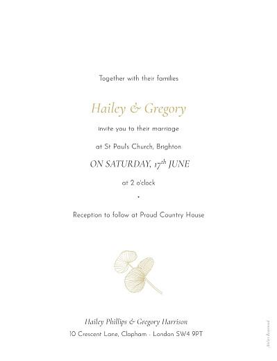 Wedding Invitations Everlasting eucalyptus beige - Page 2