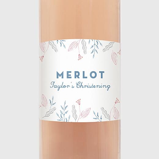 Christening Wine Labels Rejoice blue - View 2