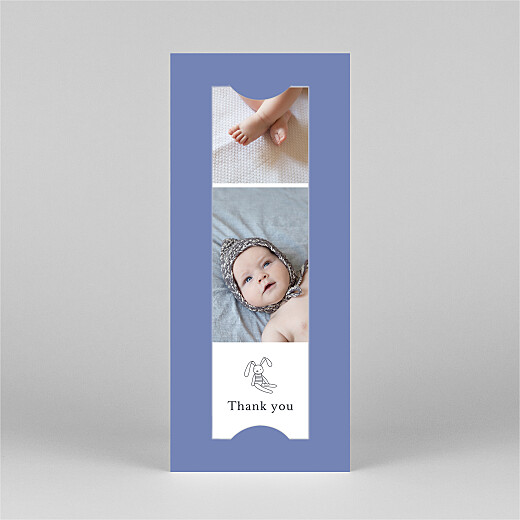 Baby Thank You Cards My story (bookmark) blue - View 2