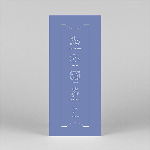 Baby Thank You Cards My story (bookmark) blue - View 3