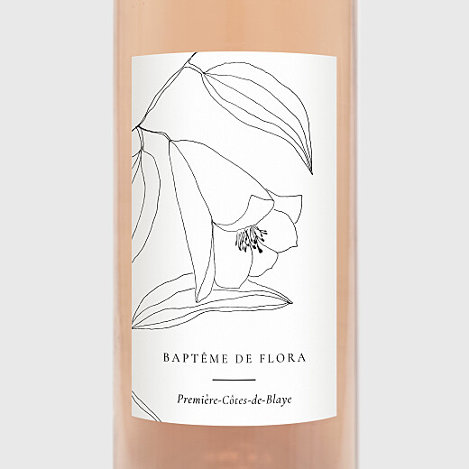 Christening Wine Labels Serenity white - View 2