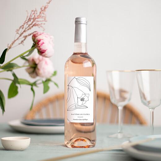 Christening Wine Labels Serenity white - View 1