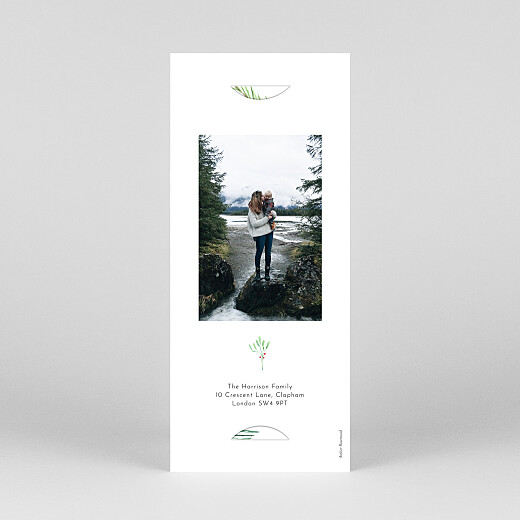 Christmas Cards Festive season (bookmark) green - View 4