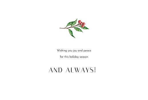 Christmas Cards Floral tidings (4 pages) white - Page 3