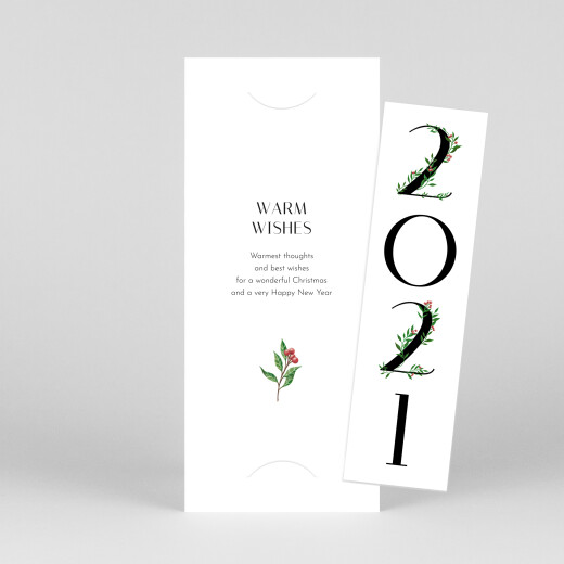 Christmas Cards Floral tidings (bookmark) white - View 1