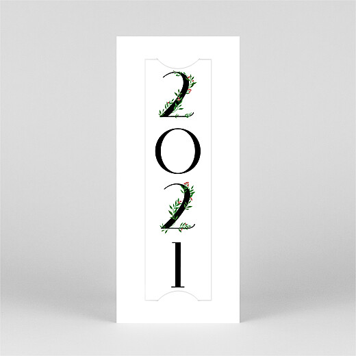 Christmas Cards Floral tidings (bookmark) white - View 2