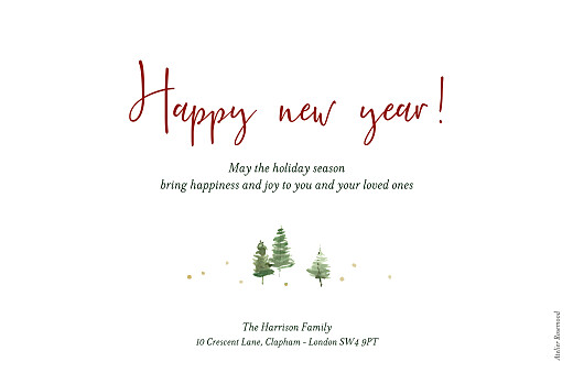 Christmas Cards Festive firs white - Page 2