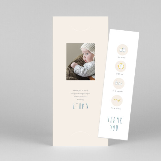 Baby Thank You Cards My little world (bookmark) colour - View 1