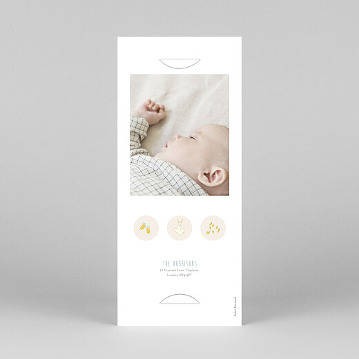 Baby Thank You Cards My little world (bookmark) colour - View 4