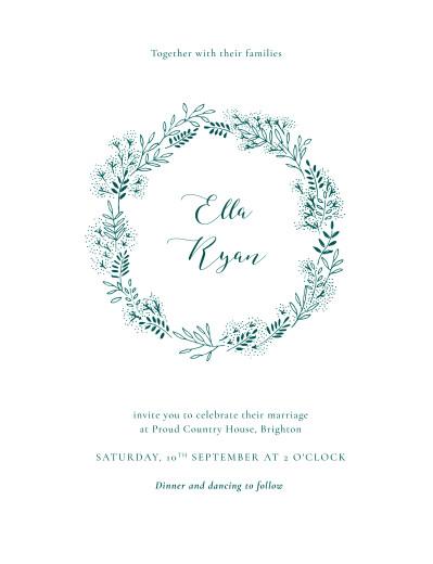 Wedding Invitations Fields of gold green