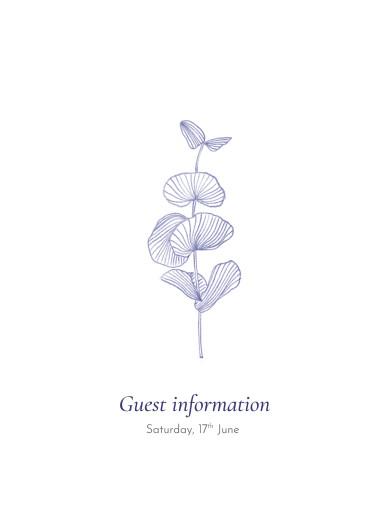 Guest Information Cards Everlasting eucalyptus blue