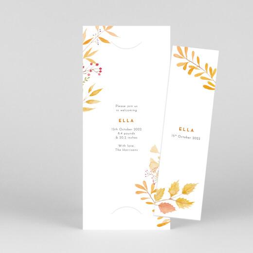 Baby Announcements Four seasons (bookmark) autumn - View 1