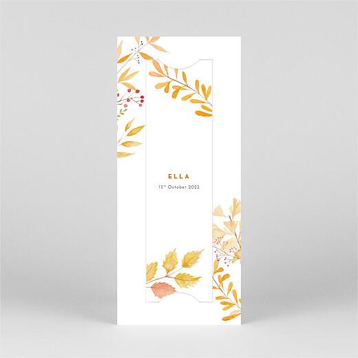 Baby Announcements Four seasons (bookmark) autumn - View 2