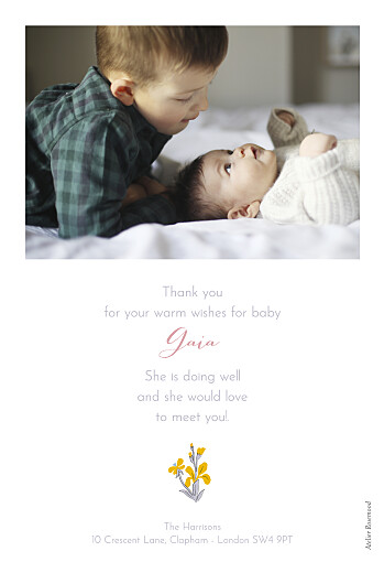 Baby Thank You Cards Prosper pink - Page 2
