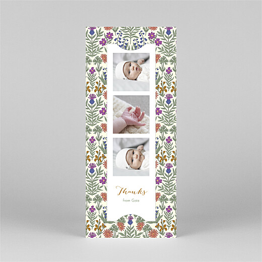 Baby Thank You Cards Prosper (bookmark) green - View 2