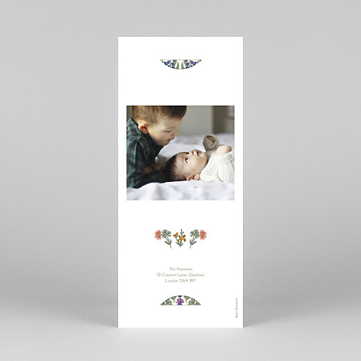 Baby Thank You Cards Prosper (bookmark) green - View 4
